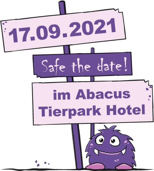 Safe the date: 17.09.2021 im Abacus Tierpark Hotel